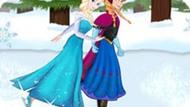 Игра Холодное сердце: Эльза и Анна на коньках