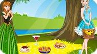 Игра Холодное сердце: Эльза и Анна на пикнике