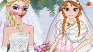 Игра Холодное сердце: Эльза и Анна невесты