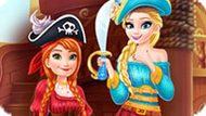 Игра Холодное сердце: Эльза и Анна пираты