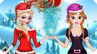 Игра Холодное сердце: Эльза и Анна помогают Санте