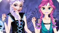 Игра Холодное сердце: Эльза и Анна празднуют Хэллоуин