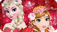 Игра Холодное сердце: Эльза и Анна празднуют китайский Новый год
