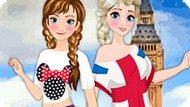 Игра Холодное сердце: Эльза и Анна путешествуют по Европе