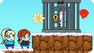 Игра Холодное сердце: Эльза и Анна спасают Олафа