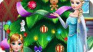 Игра Холодное сердце: Эльза и Анна украшают елку