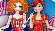 Игра Холодное сердце: Эльза и Анна в цирке