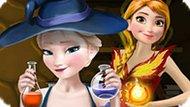 Игра Холодное сердце: Эльза и Анна варят зелье
