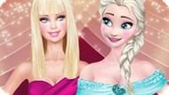Игра Холодное сердце: Эльза и Барби супермодели