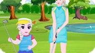 Игра Холодное сердце: Эльза и дочь играют в гольф