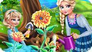 Игра Холодное сердце: Эльза и дочь садовники