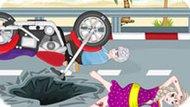 Игра Холодное сердце: Эльза и Джек попали в аварию на мотоцикле