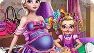 Игра Холодное сердце: Эльза и малышка на шопинге