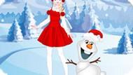 Игра Холодное сердце: Эльза и Олаф одевалка
