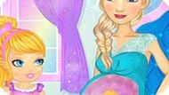 Игра Холодное сердце: Эльза играет с малышом в животике
