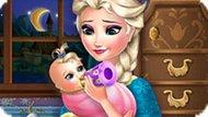 Игра Холодное сердце: Эльза кормит ребенка