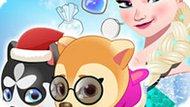 Игра Холодное сердце: Эльза лечит щенков