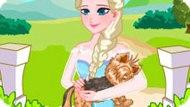 Игра Холодное сердце: Эльза лечит собаку