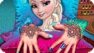 Игра Холодное сердце: Эльза маникюр