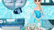 Игра Холодное сердце: Эльза моет посуду 2