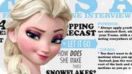 Игра Холодное сердце: Эльза на обложке журнала