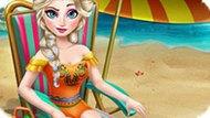 Игра Холодное сердце: Эльза плавает в бассейне