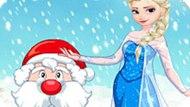 Игра Холодное сердце: Эльза помогает Санте