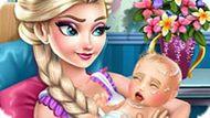 Игра Холодное сердце: Эльза родила малыша