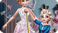 Игра Холодное сердце: Эльза шьет платье Анне