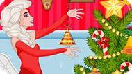 Игра Холодное сердце: Эльза убирает комнату перед Новым годом