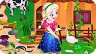 Игра Холодное сердце: Эльза убирает на ферме