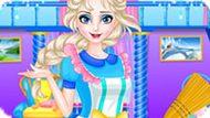 Игра Холодное сердце: Эльза убирает в фамильном замке