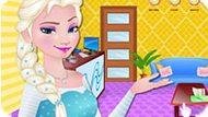 Игра Холодное сердце: Эльза убирает в мотеле