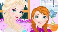 Игра Холодное сердце: Эльза учит Анну стирать одежду