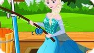 Игра Холодное сердце: Эльза учится ловить рыбу
