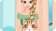 Игра Холодное сердце: Эльза ухаживает за котенком