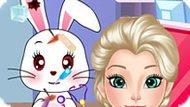 Игра Холодное сердце: Эльза ухаживает за кроликом