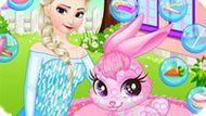Игра Холодное сердце: Эльза ухаживает за маленьким кроликом