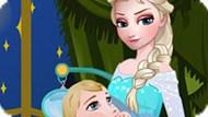 Игра Холодное сердце: Эльза ухаживает за малышом