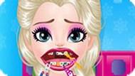 Игра Холодное сердце: Эльза ухаживает за полостью рта