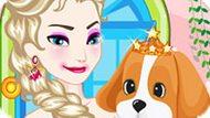 Игра Холодное сердце: Эльза ухаживает за щенком