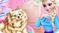 Игра Холодное сердце: Эльза ухаживает за собакой
