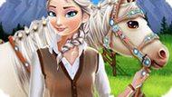 Игра Холодное сердце: Эльза уход за лошадью
