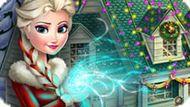 Игра Холодное сердце: Эльза украшает дом к Новому году