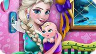 Игра Холодное сердце: Эльза украшает комнату для малыша