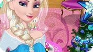 Игра Холодное сердце: Эльза украшает комнату к Новому году