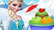 Игра Холодное сердце: Эльза украшает мороженое