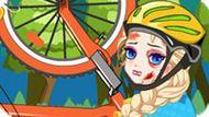 Игра Холодное сердце: Эльза упала с велосипеда