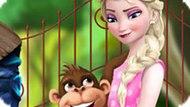 Игра Холодное сердце: Эльза в зоопарке