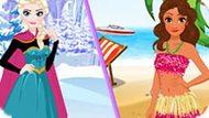 Игра Холодное сердце: Каникулы Эльзы и Моаны